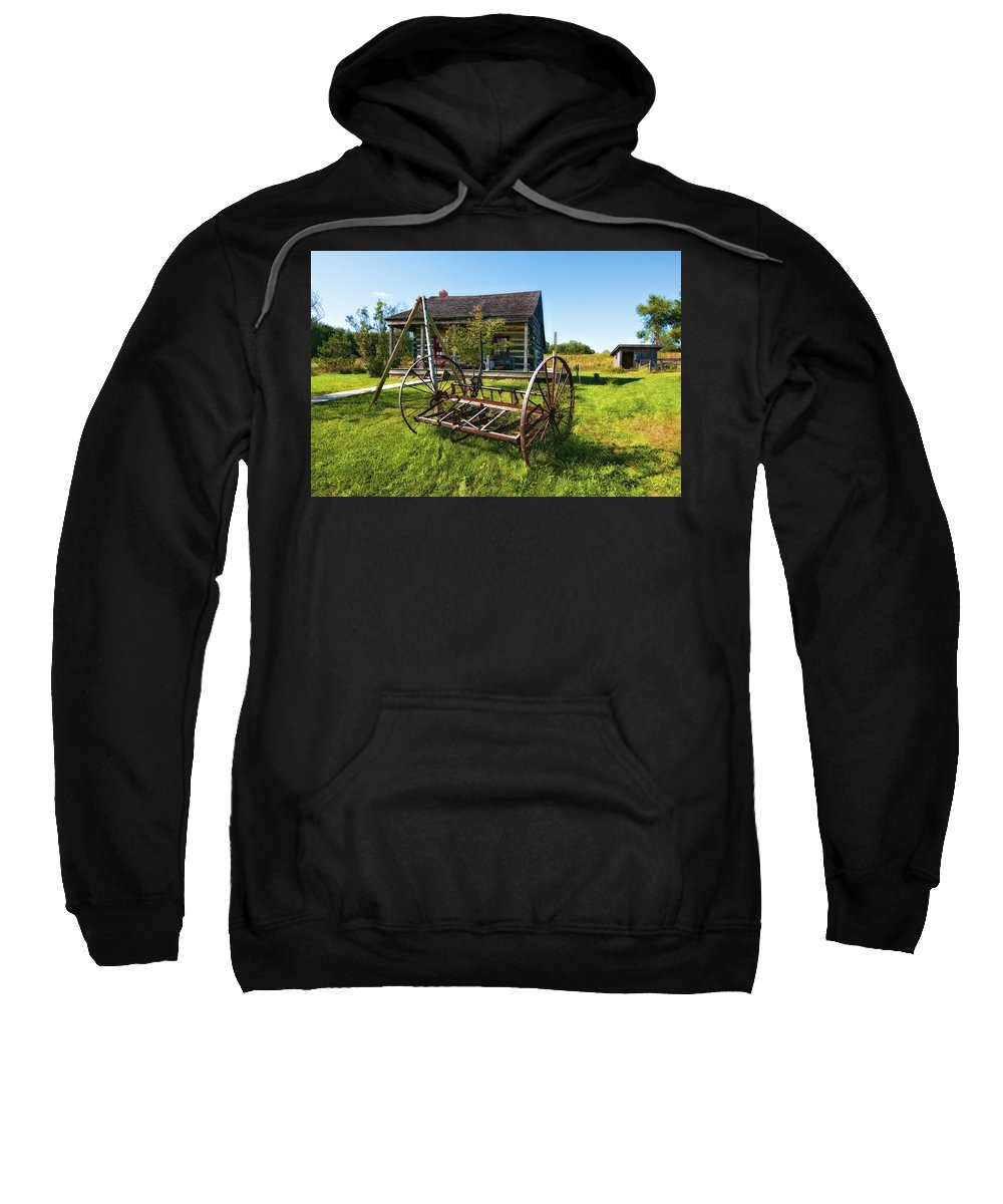 Grey Roots Museum & Archives Sweatshirt featuring the photograph Country Classic Oil by Steve Harrington