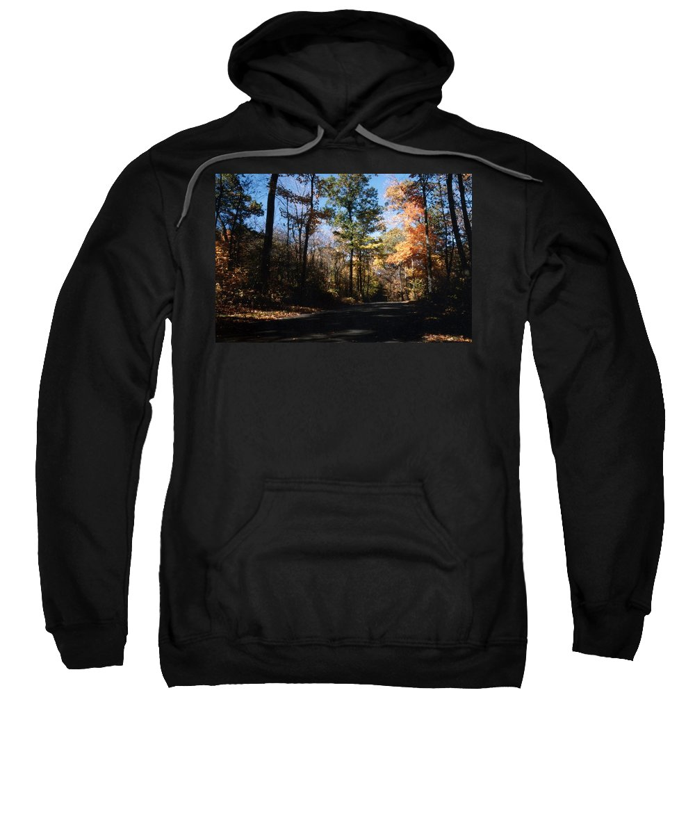 Wisconsin Sweatshirt featuring the photograph Country Road In Autumn by Kay Novy