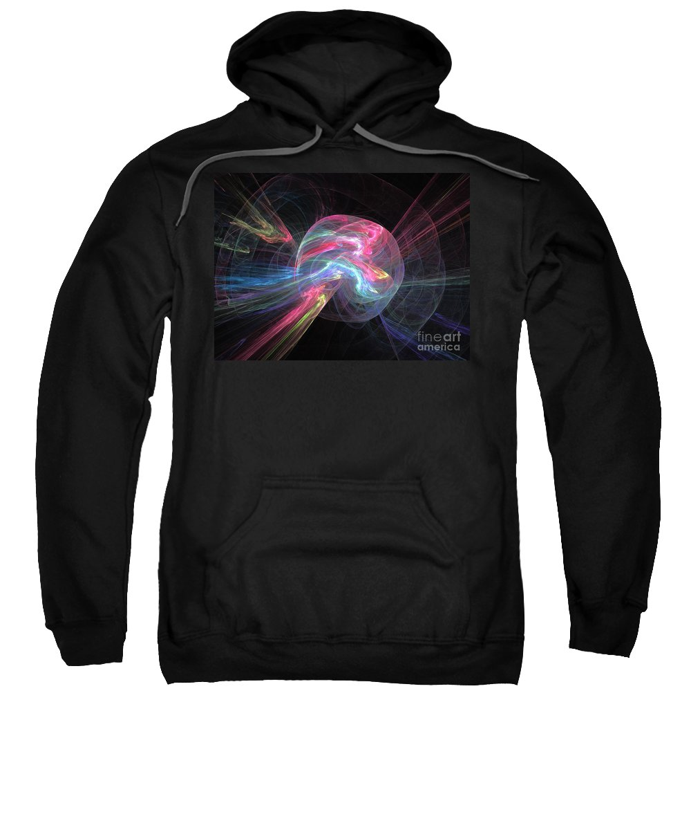 Apophysis Sweatshirt featuring the digital art Creation by Kim Sy Ok