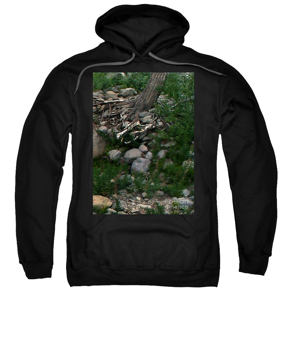 Creek Sweatshirt featuring the digital art Creek Flow Panel 4 by Peter Piatt