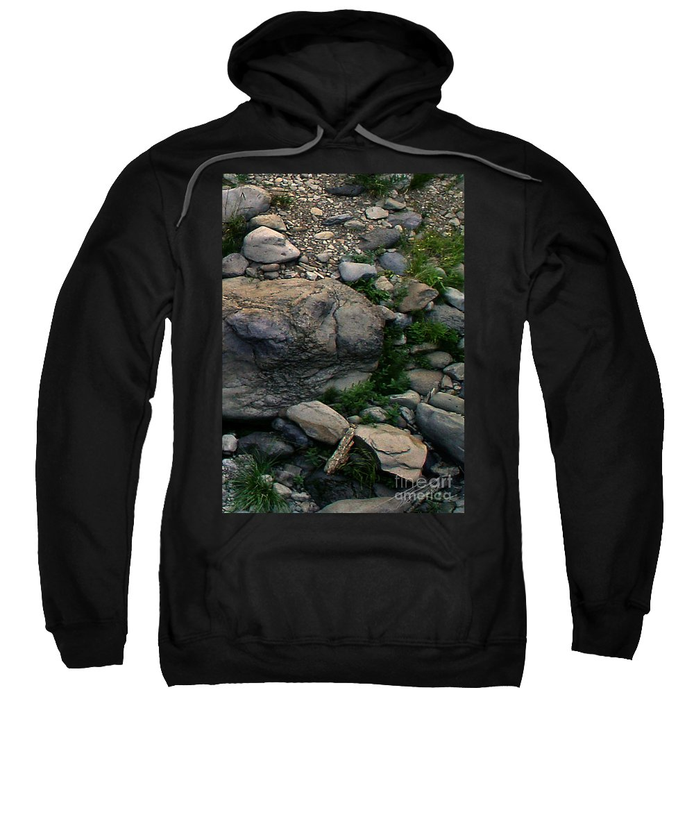 Creek Sweatshirt featuring the digital art Creek Flow Panel 5 by Peter Piatt