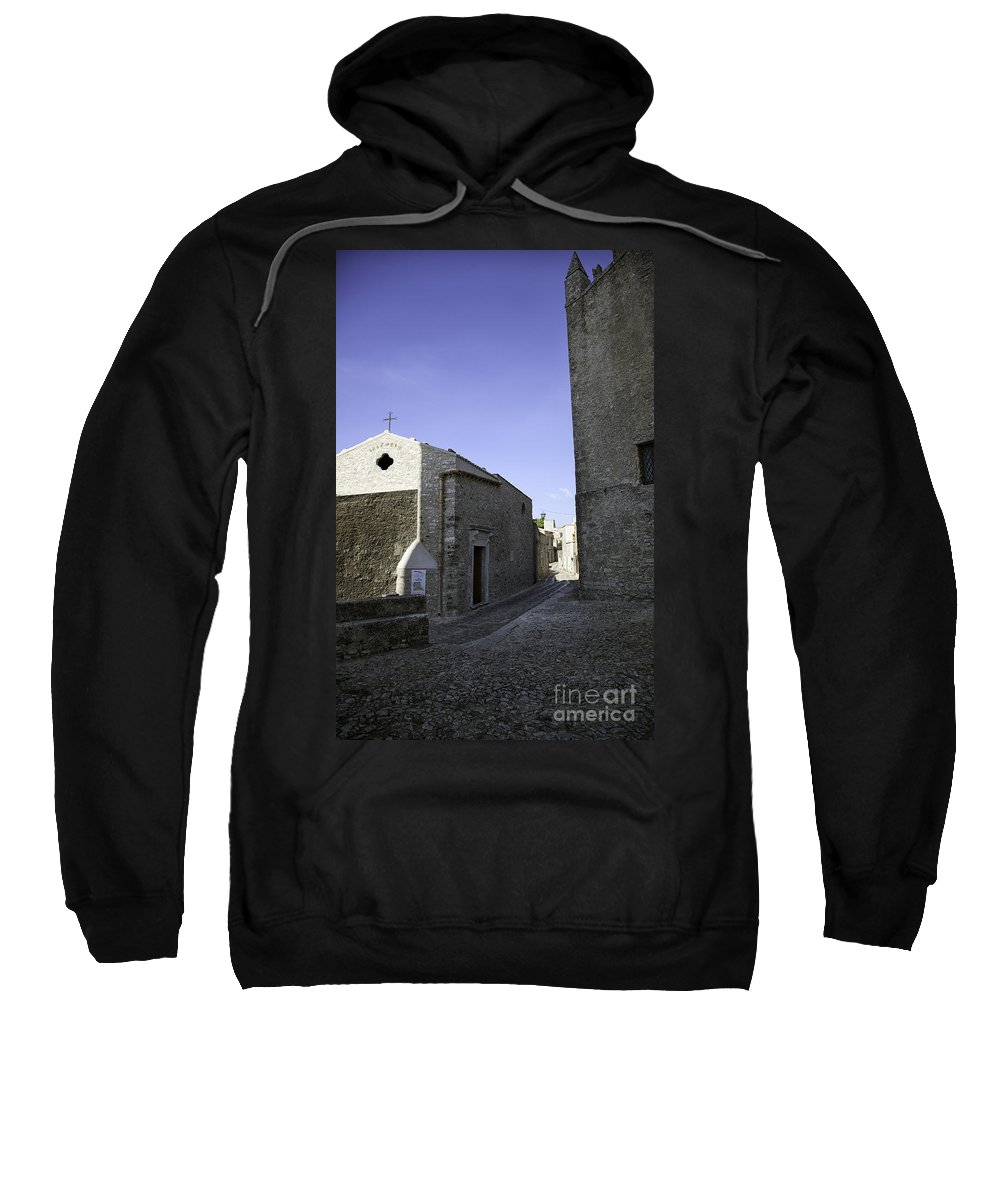 Church Sweatshirt featuring the photograph Cross Road 1 by Madeline Ellis