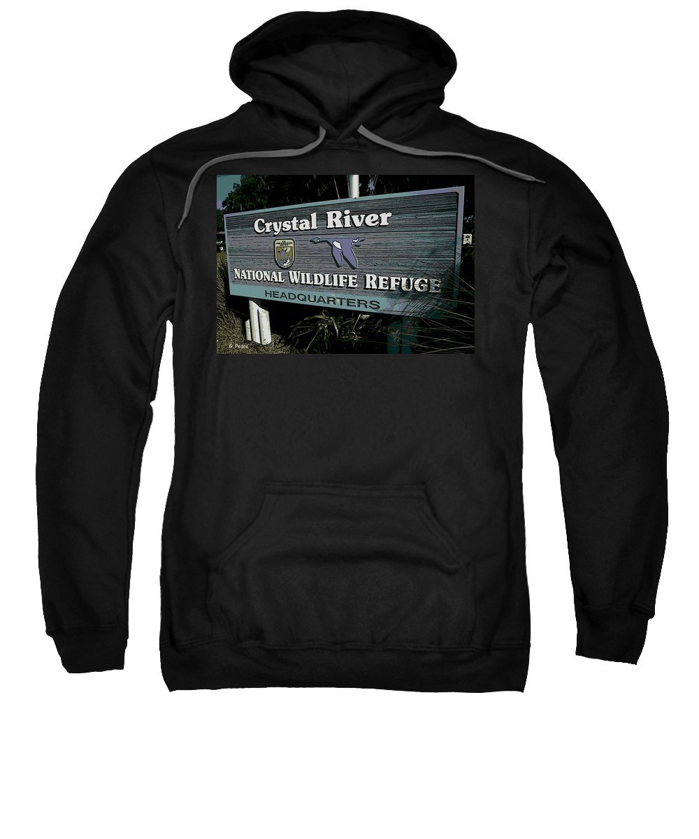 Crystal River Sweatshirt featuring the photograph Crystal River by George Pedro