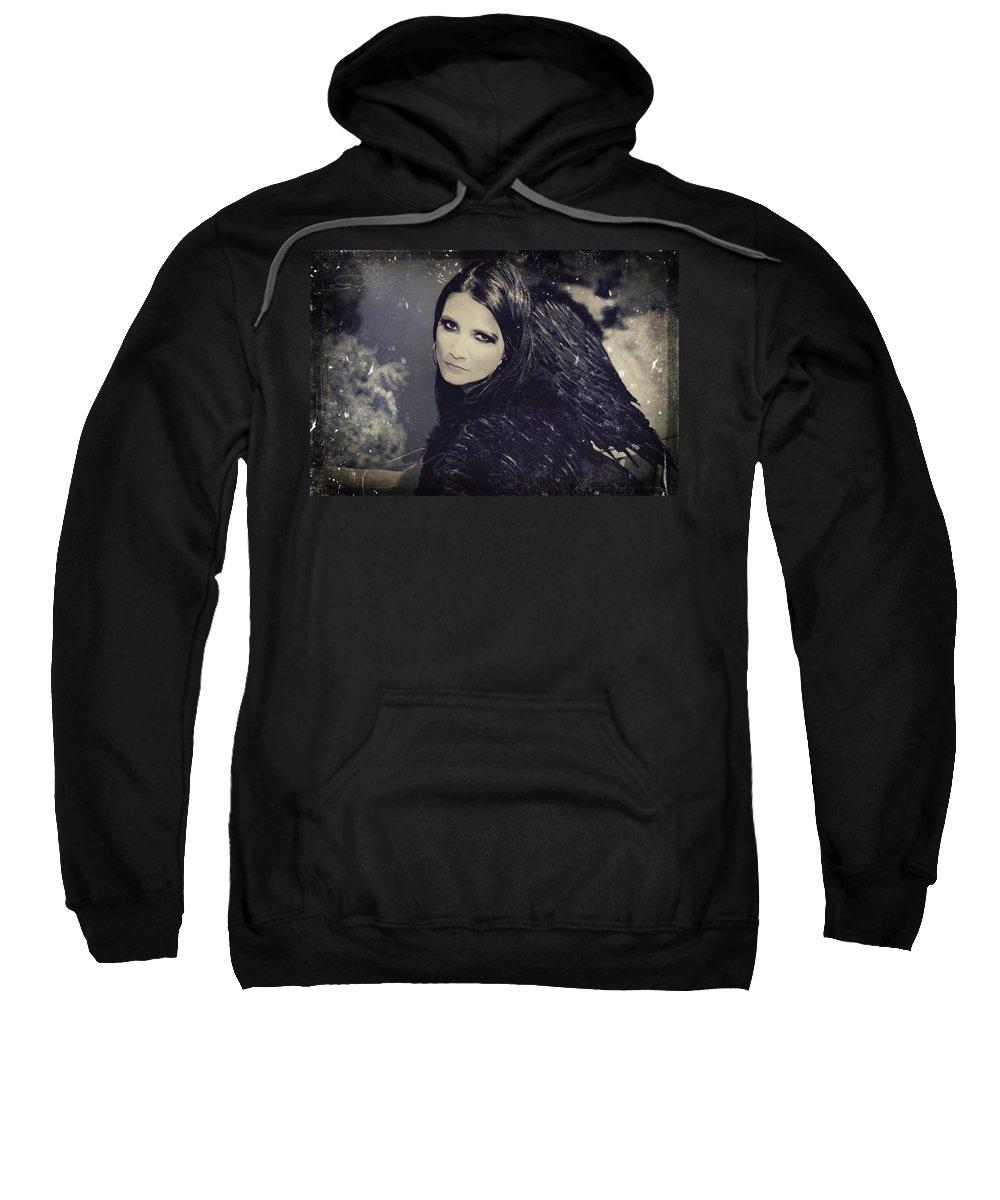 Dark Angel Sweatshirt featuring the photograph Dark Days by Laurie Search