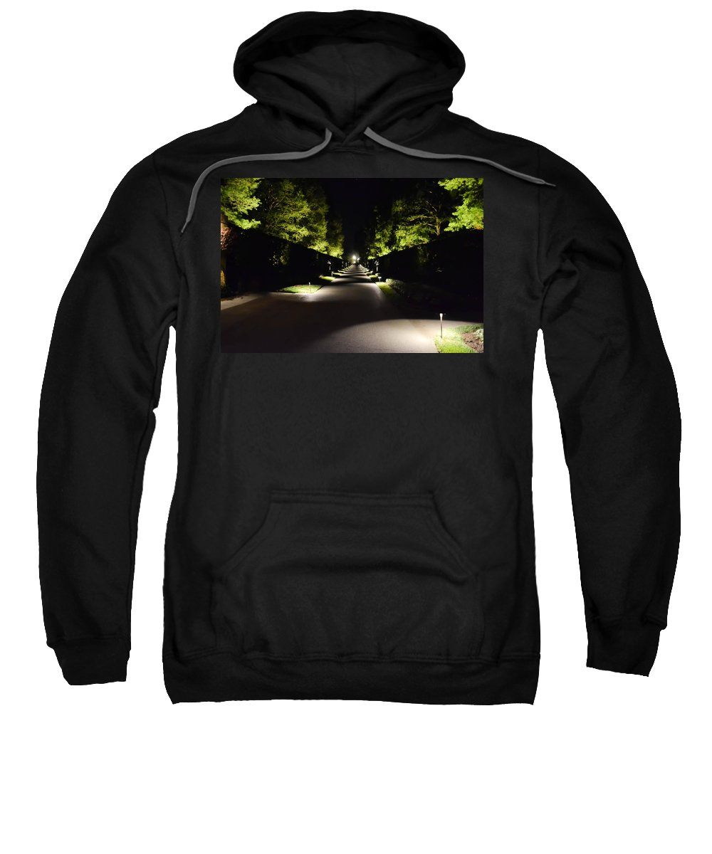 Dark Sweatshirt featuring the photograph Dark Pathway by Wanda J King