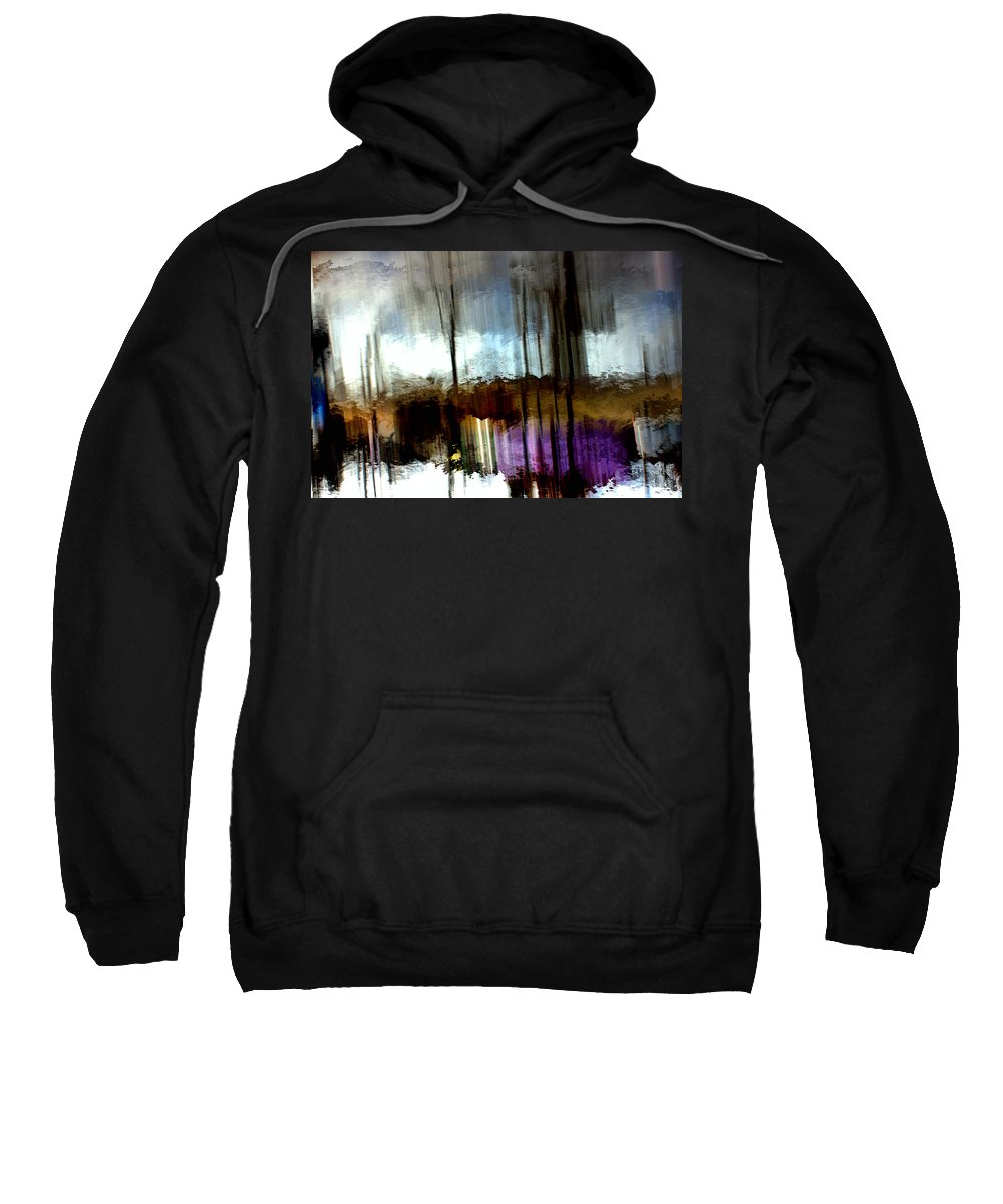 River Sweatshirt featuring the mixed media Dark Waters by Terence Morrissey
