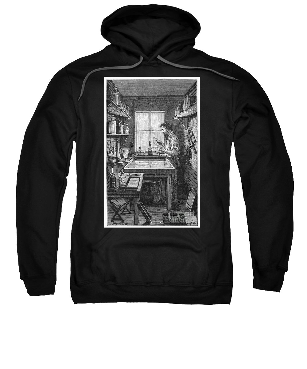 19th Century Sweatshirt featuring the photograph Darkroom, 19th Century by Granger