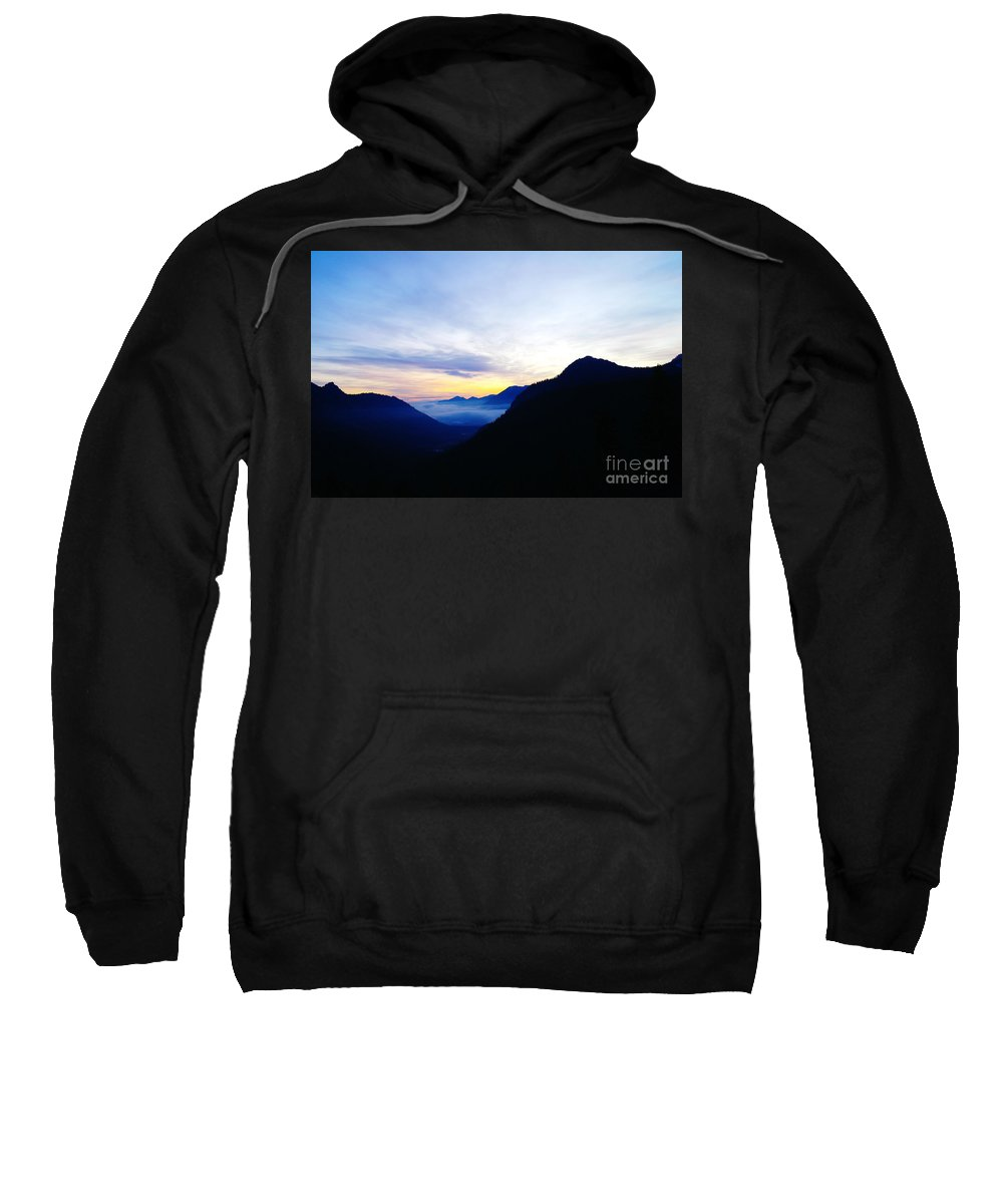 Mountains Sweatshirt featuring the photograph Dawn In The Foothills Of The Cascades by Jeff Swan