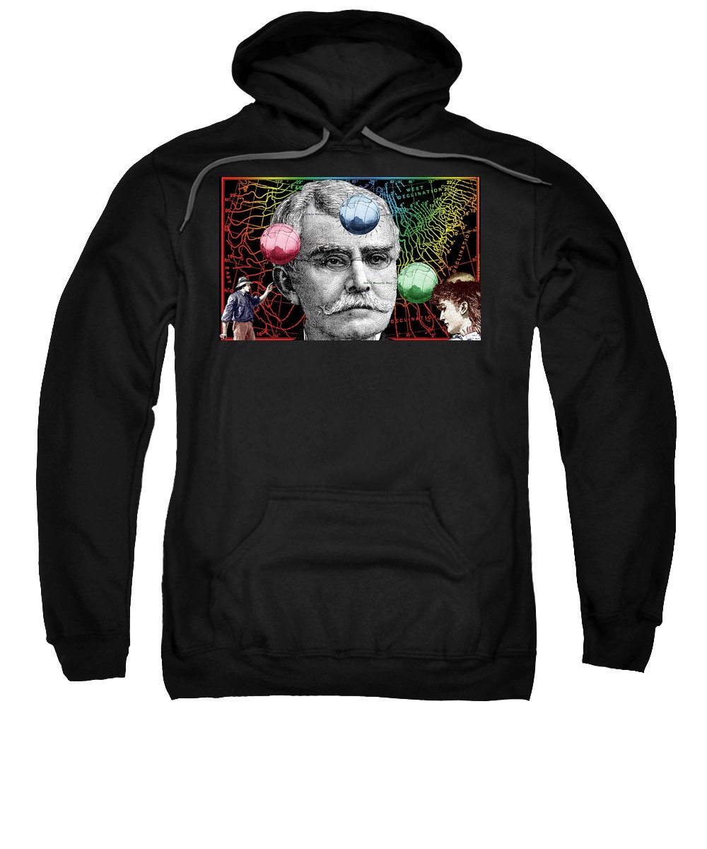 Digital Collage Sweatshirt featuring the digital art Declination by Eric Edelman