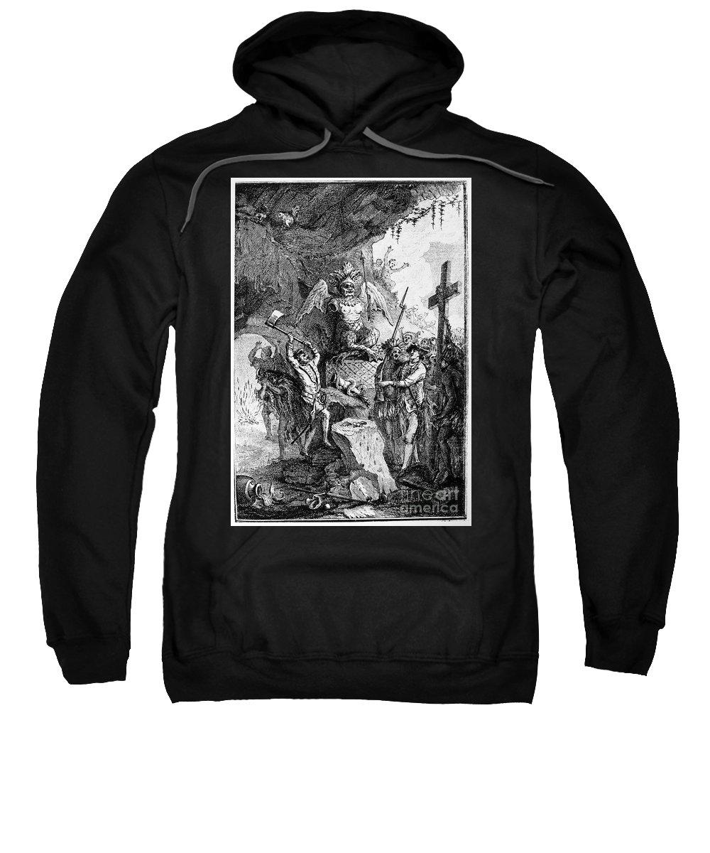 1750 Sweatshirt featuring the photograph Destruction Of Idols, C1750 by Granger