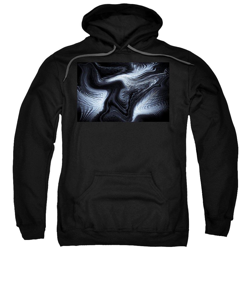 Digital Sweatshirt featuring the digital art Digital Blue Art by David Pyatt
