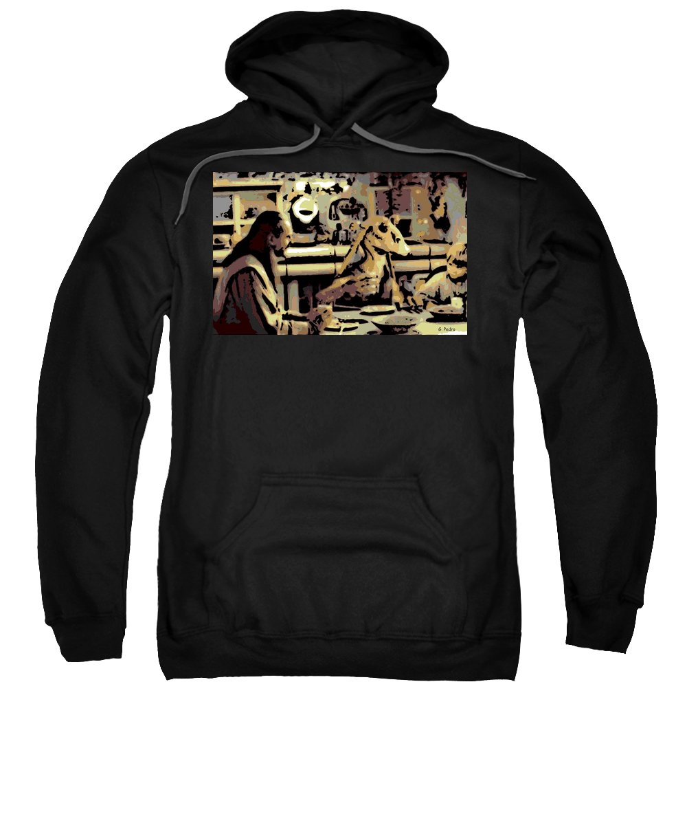 Jar Jar Binks Sweatshirt featuring the photograph Dinner Time by George Pedro