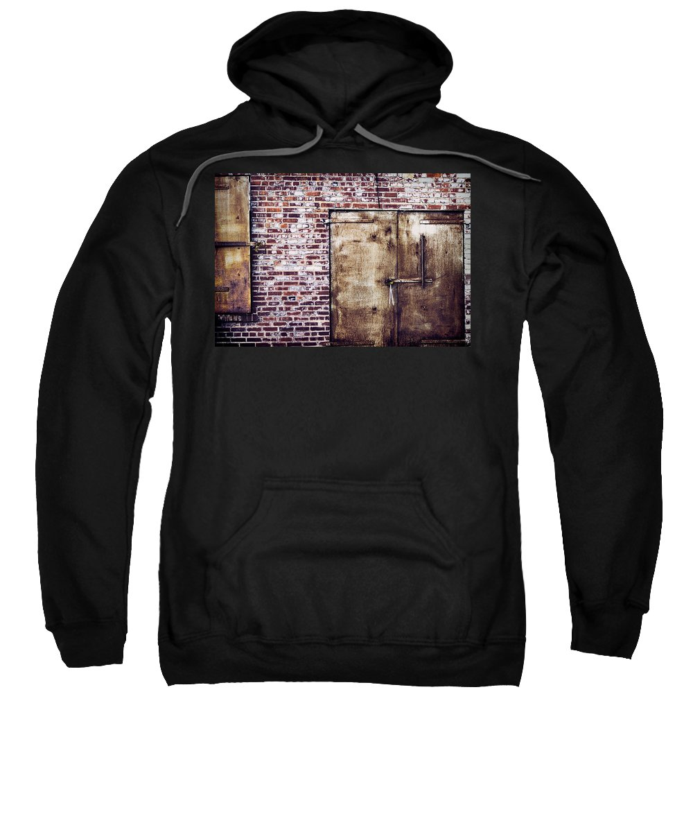 Rusty Sweatshirt featuring the photograph Dismal At Best - Rusty And Crusty by Kathy Clark