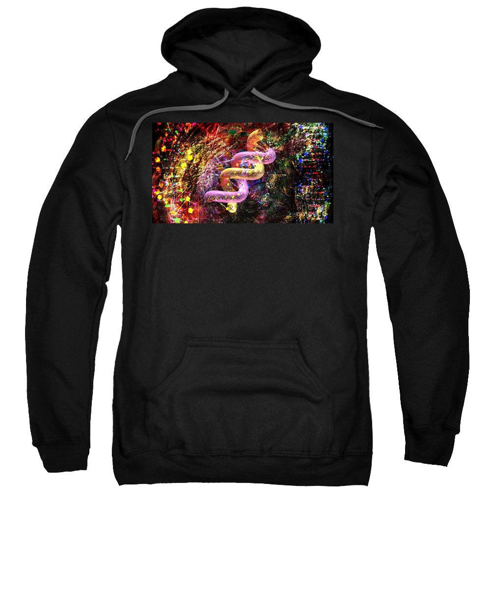 Abstract Sweatshirt featuring the digital art Dna Dreaming 5 by Russell Kightley