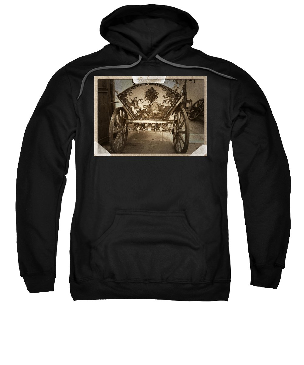 Donkey Cart Sweatshirt featuring the photograph Donkey Cart by Cliff Norton