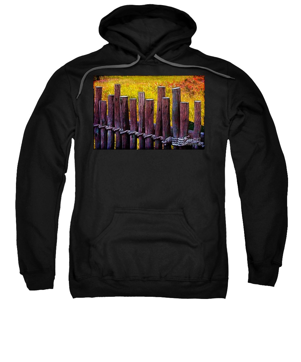 Fence Sweatshirt featuring the photograph Don't Fence Me In by Judi Bagwell