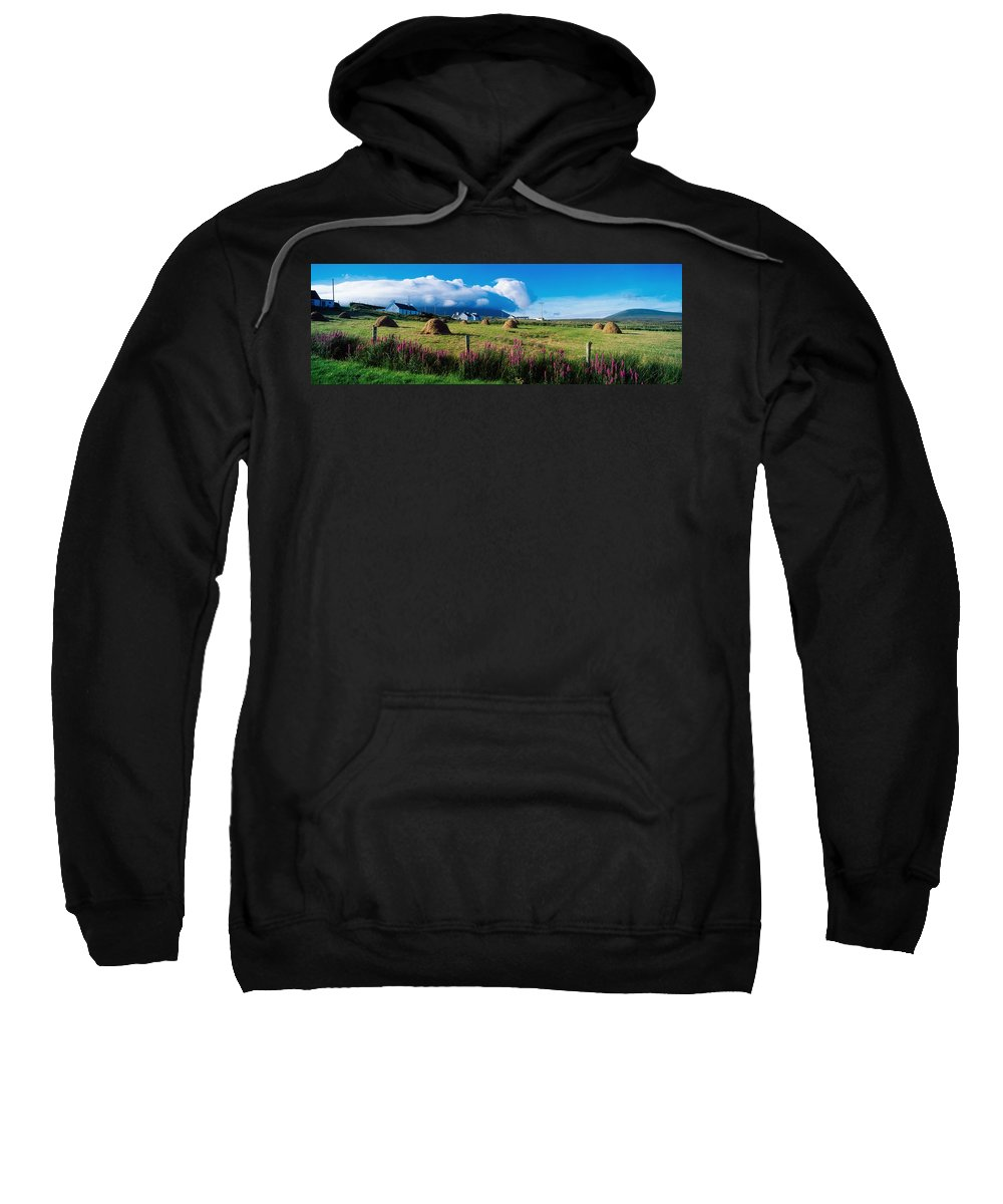 Agricultural Sweatshirt featuring the photograph Dooega, Achill Island, County Mayo by The Irish Image Collection