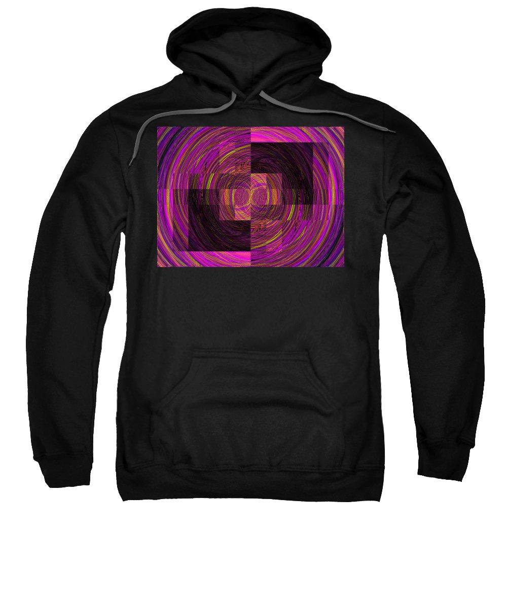 Abstract Sweatshirt featuring the digital art Double Rainbow Eddy by Tim Allen