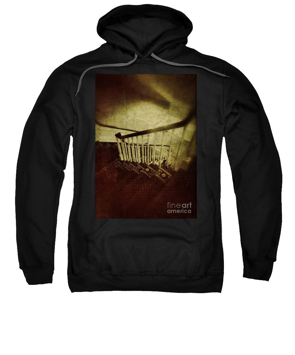 Stairs Sweatshirt featuring the photograph Down A Staircase by Jill Battaglia