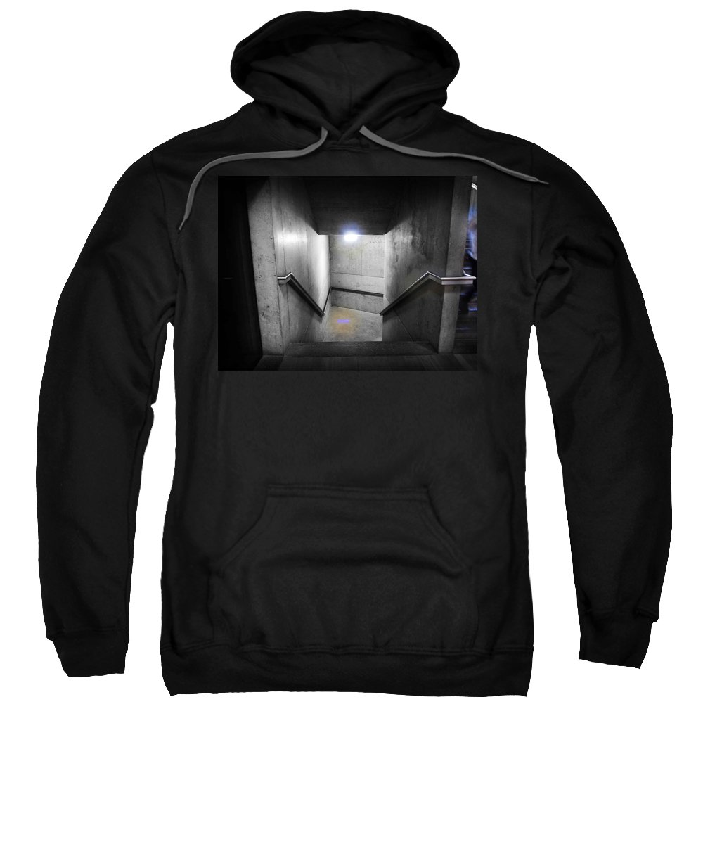 Stairs Sweatshirt featuring the photograph Down by Charles Stuart