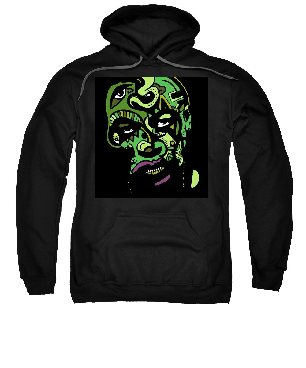 Dr Sweatshirt featuring the digital art Dr. Dre Full Color by Kamoni Khem
