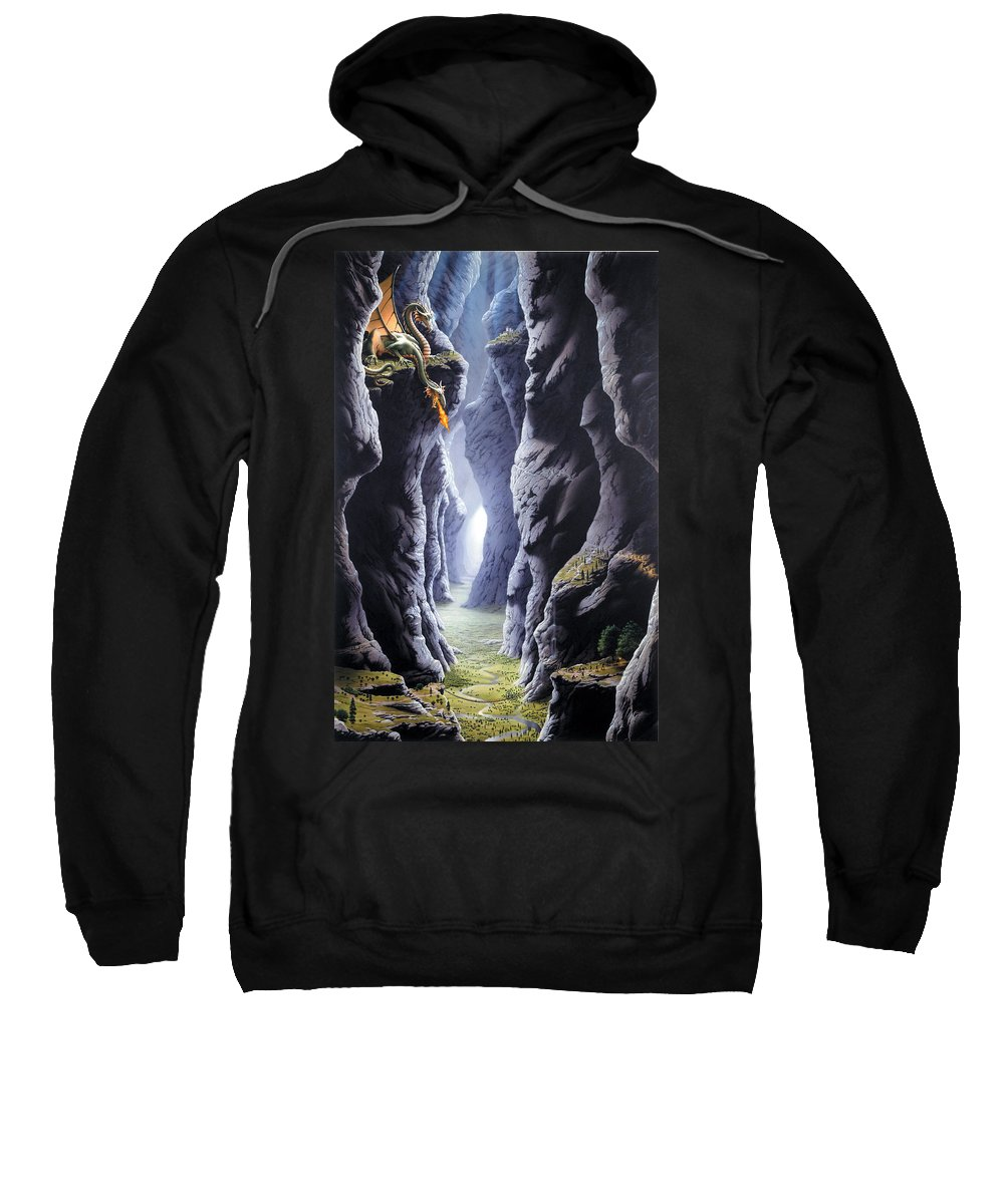 Dragon Sweatshirt featuring the photograph Dragons Pass by The Dragon Chronicles - Steve Re