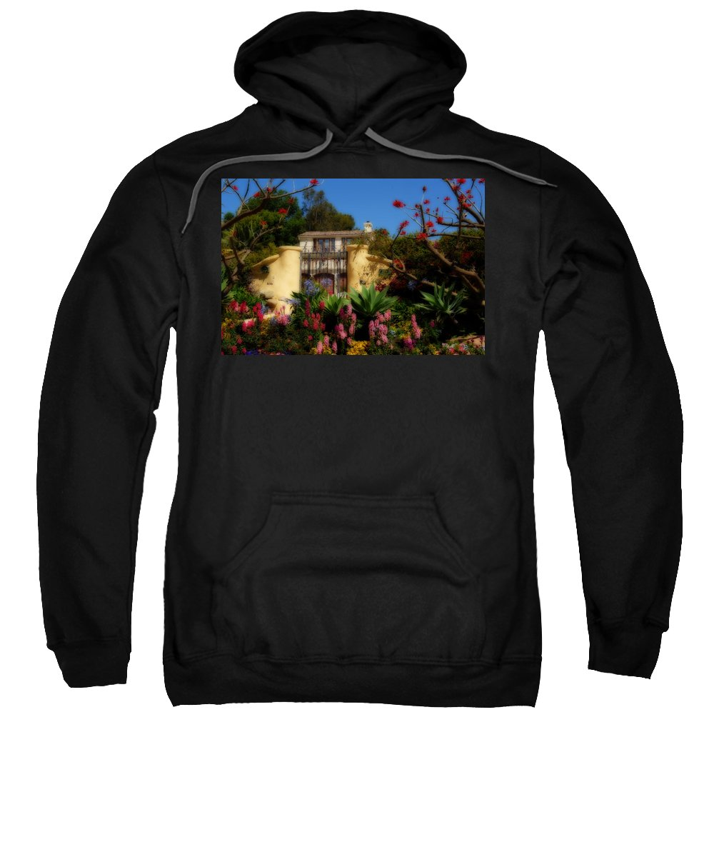 Malibu Sweatshirt featuring the photograph Dream Cottage In Malibu by Lynn Bauer