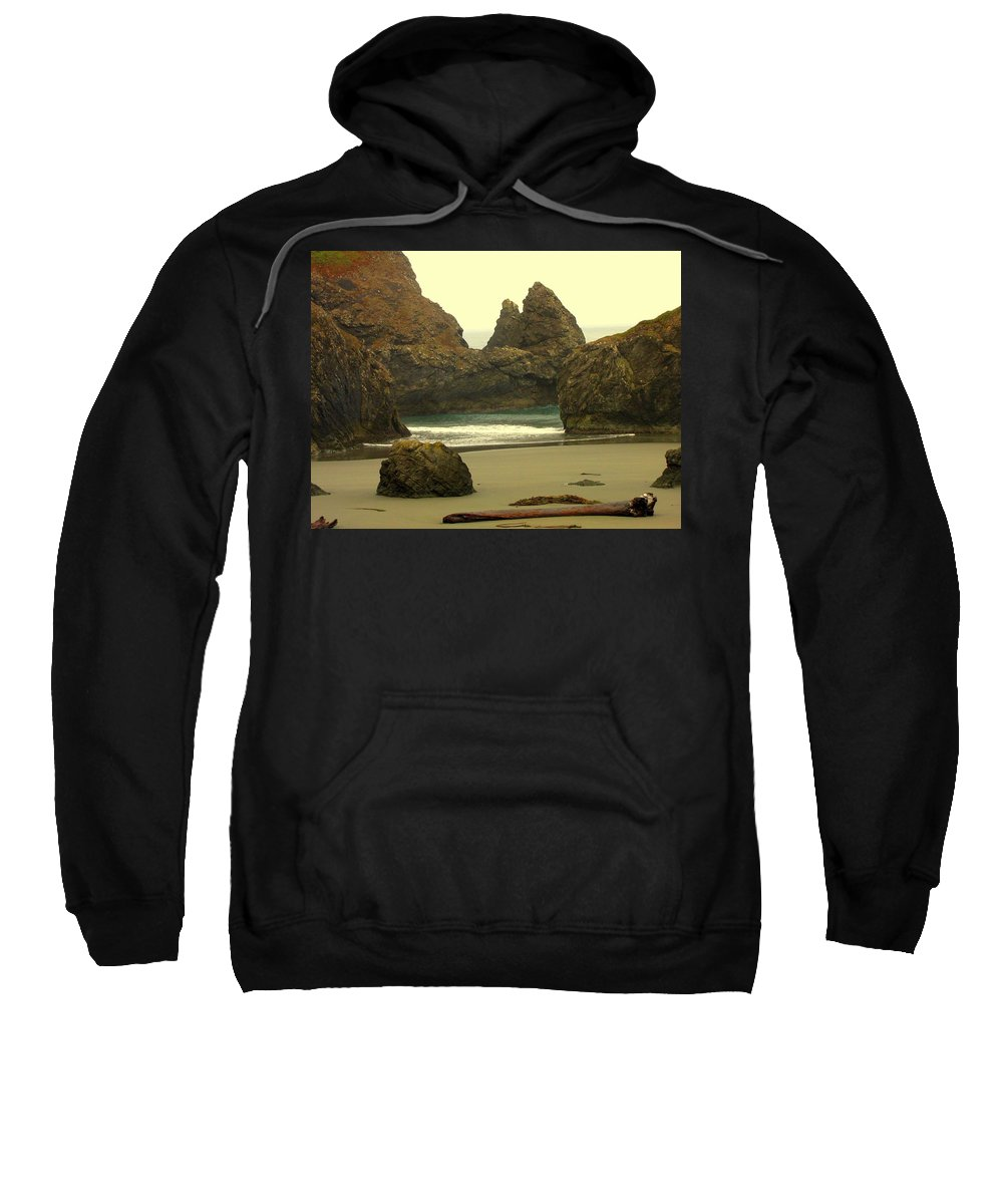 Oregon Coast Sweatshirt featuring the photograph Drift Away by Judy Garrett