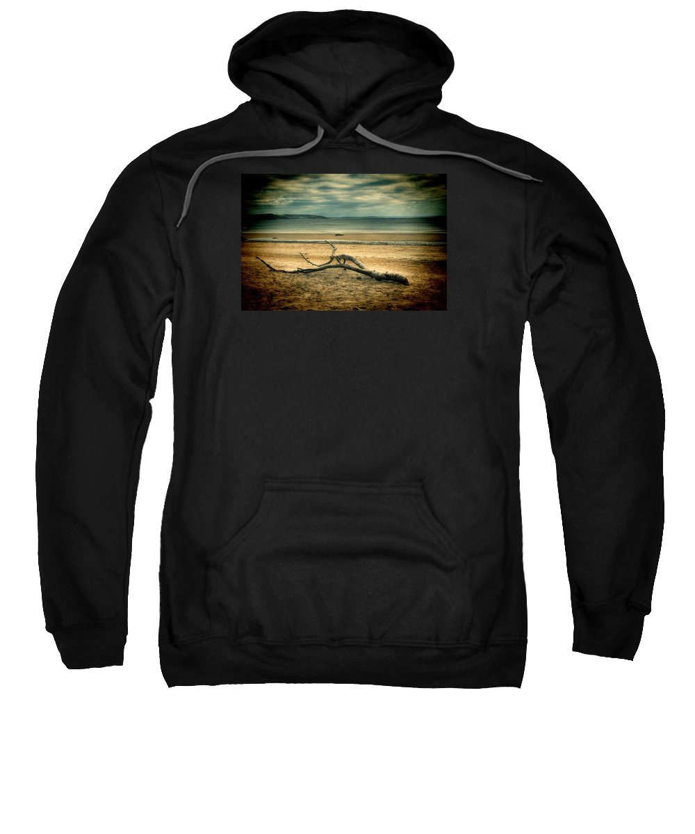 Driftwood Sweatshirt featuring the photograph Driftwood 1 Lomo by Steve Purnell