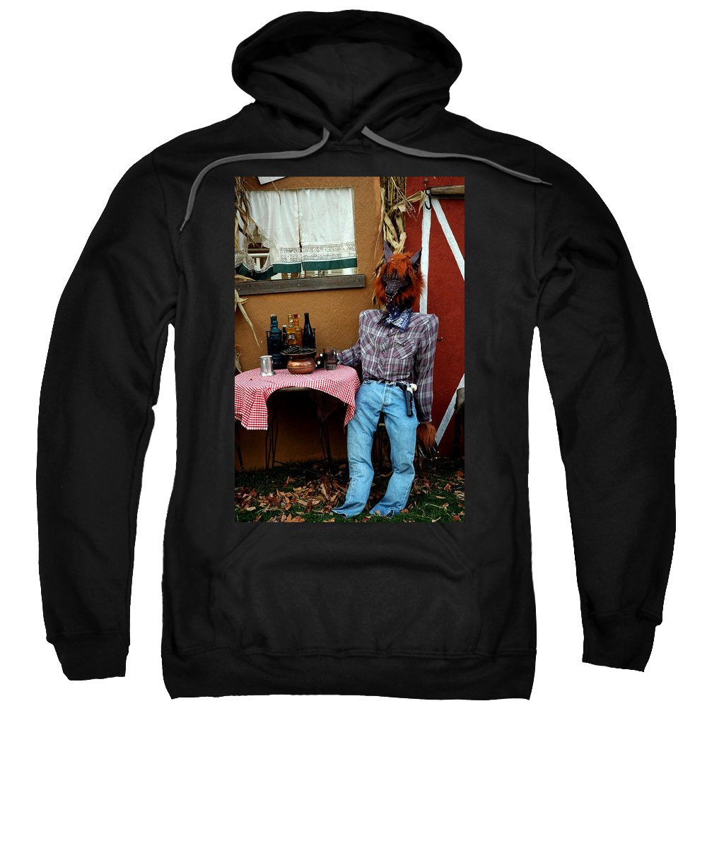Usa Sweatshirt featuring the photograph Drunk Werewolf Diner by LeeAnn McLaneGoetz McLaneGoetzStudioLLCcom