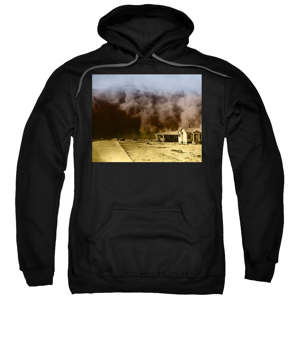 Color Sweatshirt featuring the photograph Dust Storm, 1930s by Omikron