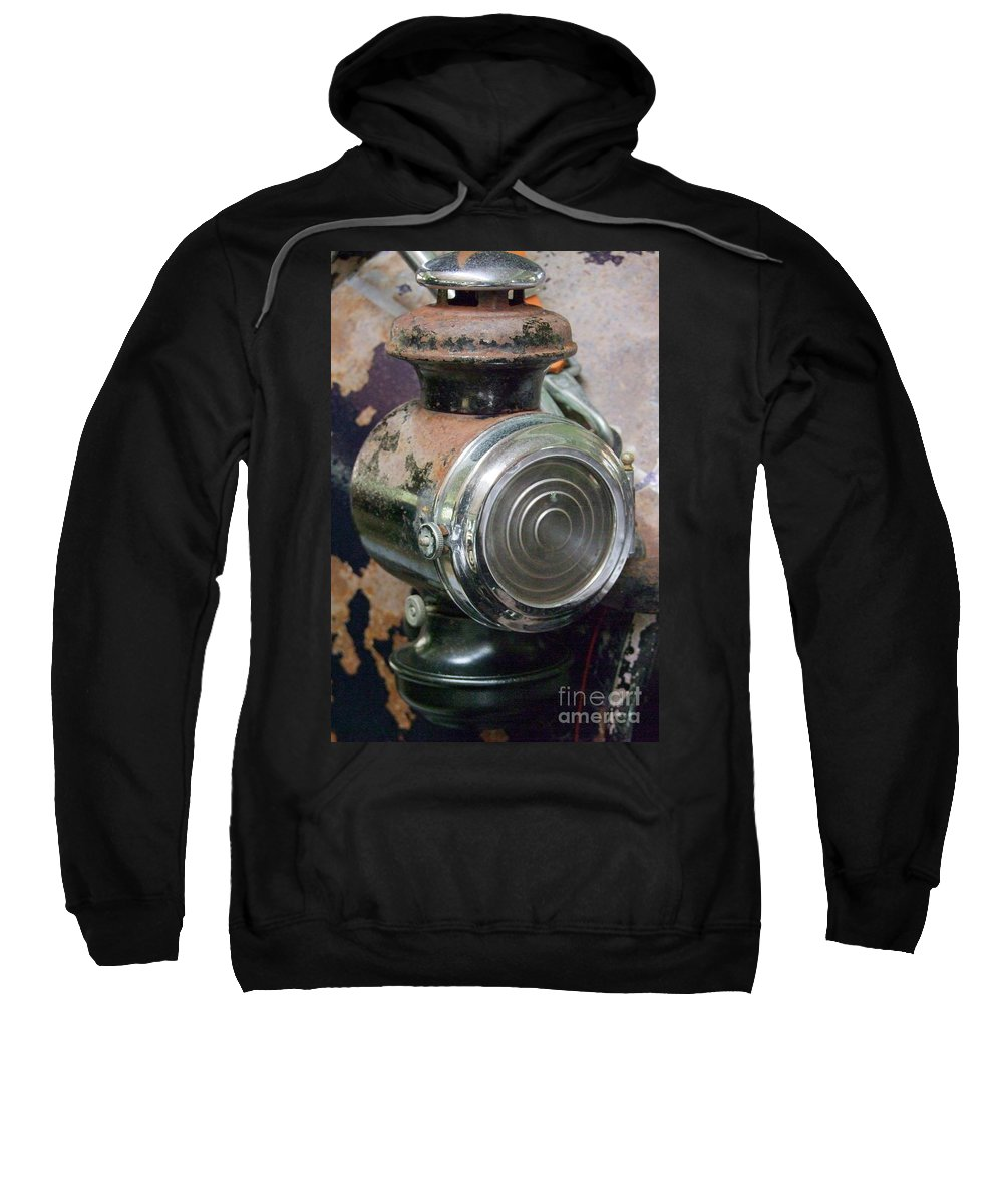 Old Cars Sweatshirt featuring the photograph Early 1900s Buick Head Lamp by Mary Deal