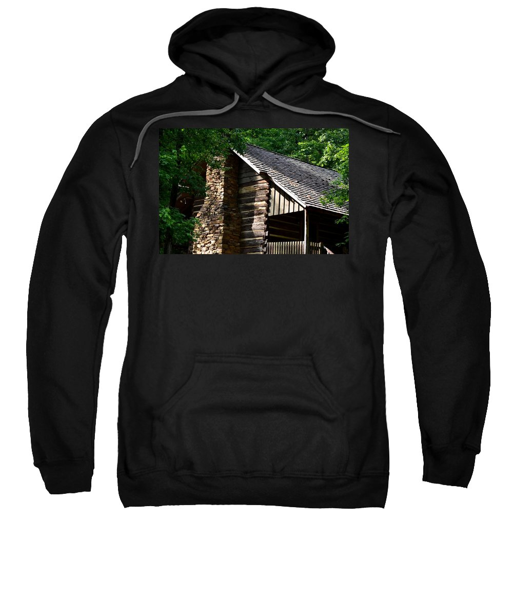 Nineteenth Sweatshirt featuring the photograph Early 19th Century Log Cabin by Maria Urso