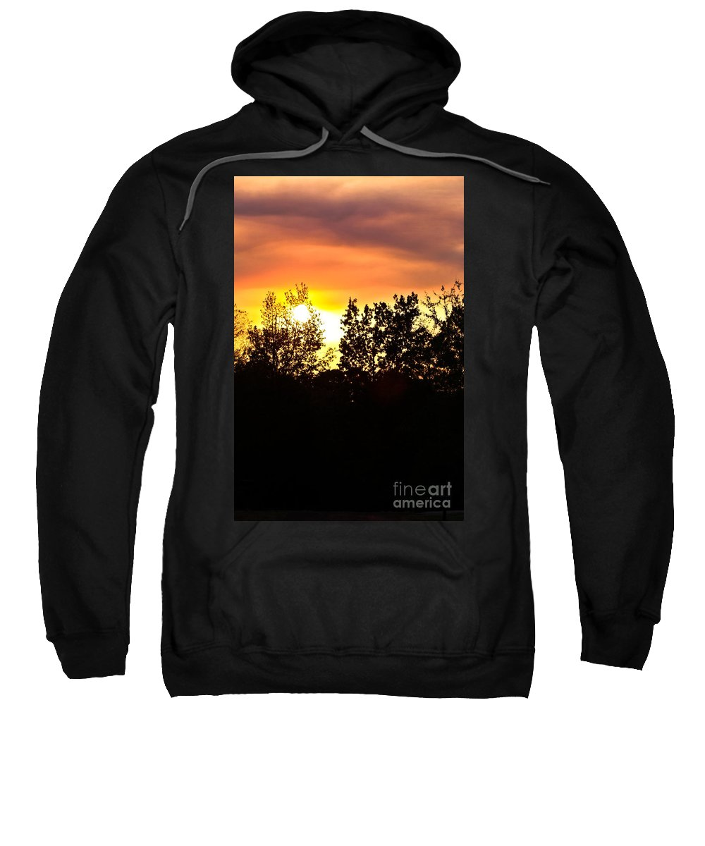 East Tx Sunset Sweatshirt featuring the photograph East Texas Sunset by Kim Henderson