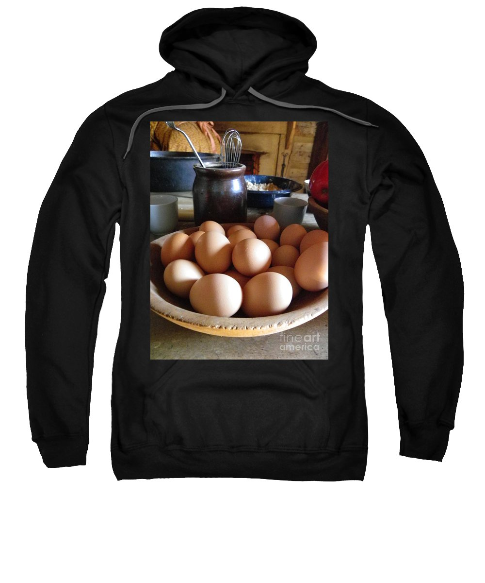 Eggs Sweatshirt featuring the photograph Eggs On The Table by Charleen Treasures