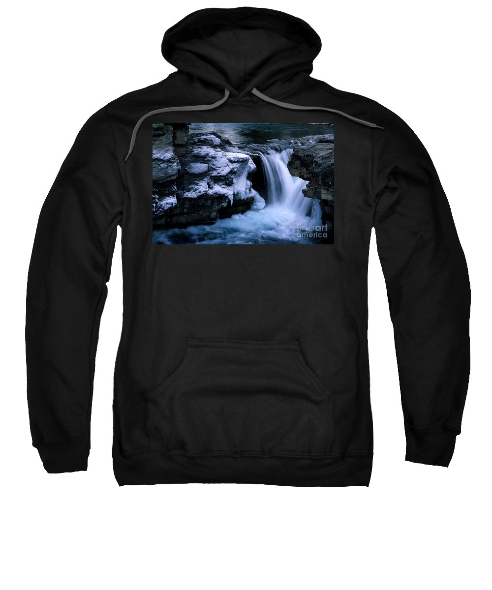 Elbow Falls Sweatshirt featuring the photograph Elbow Falls by Bob Christopher