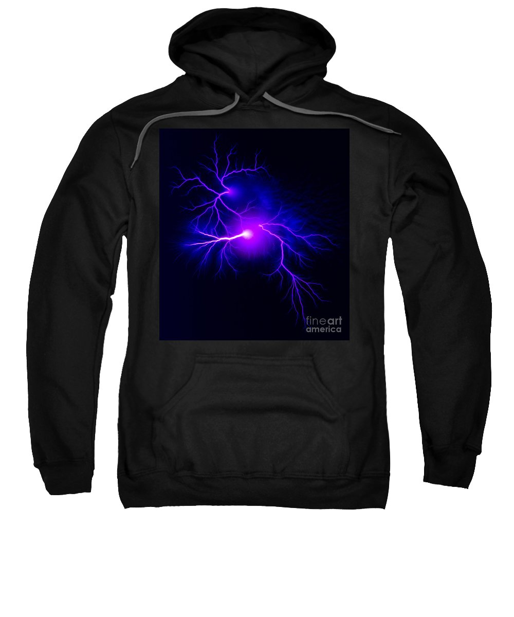Spark Sweatshirt featuring the photograph Electric Spark by Ted Kinsman