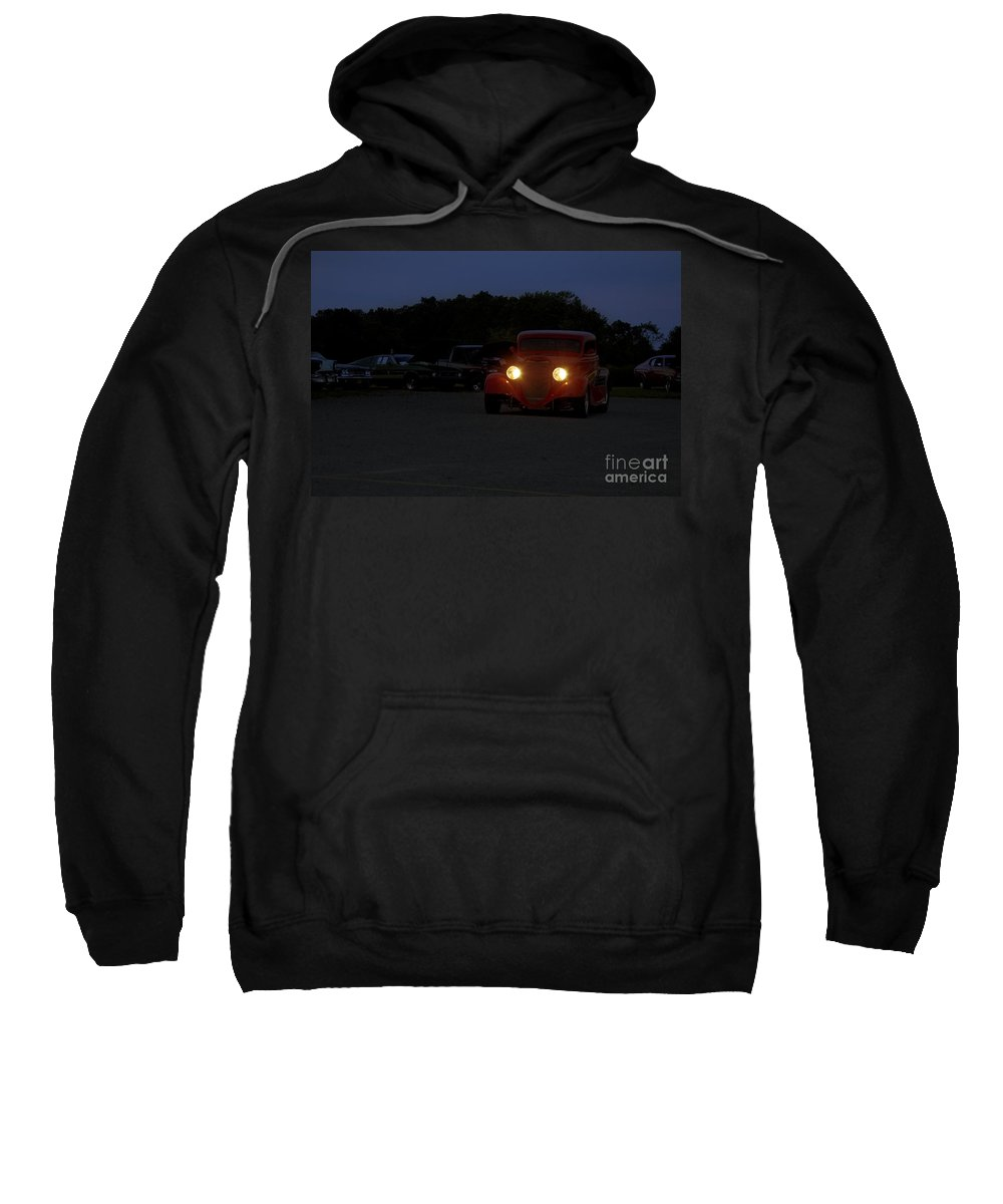 Car Sweatshirt featuring the photograph Eliminator's Departure by Tom Luca
