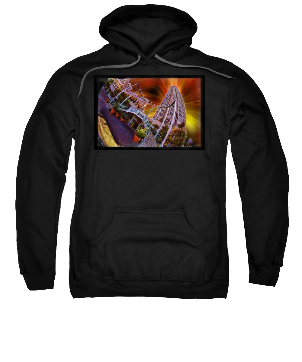 Art Photography Sweatshirt featuring the photograph Embarcadero Center by Blake Richards