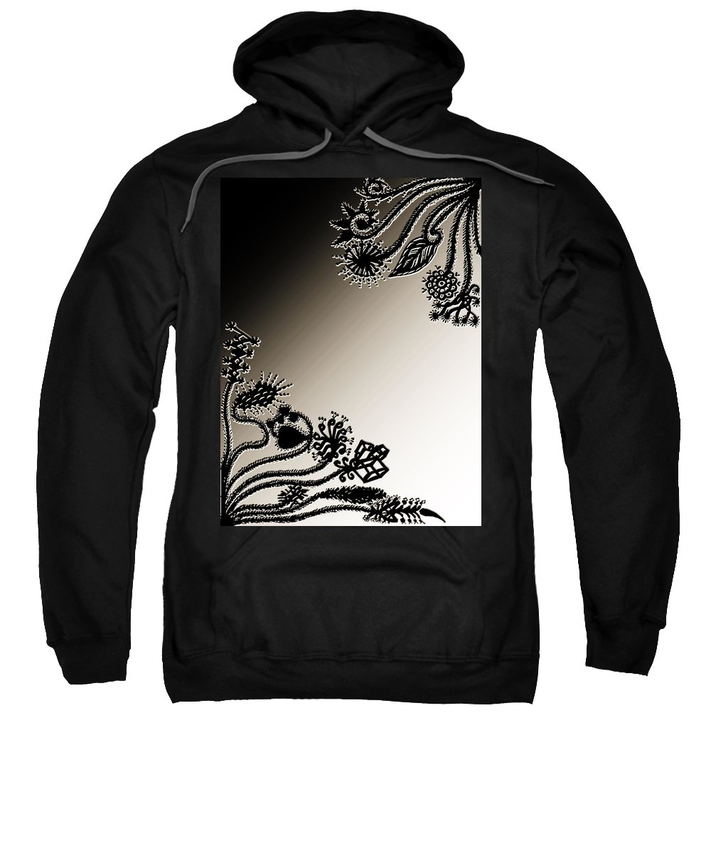 Embroidery Sweatshirt featuring the digital art Embroidery At Corners by Sumit Mehndiratta