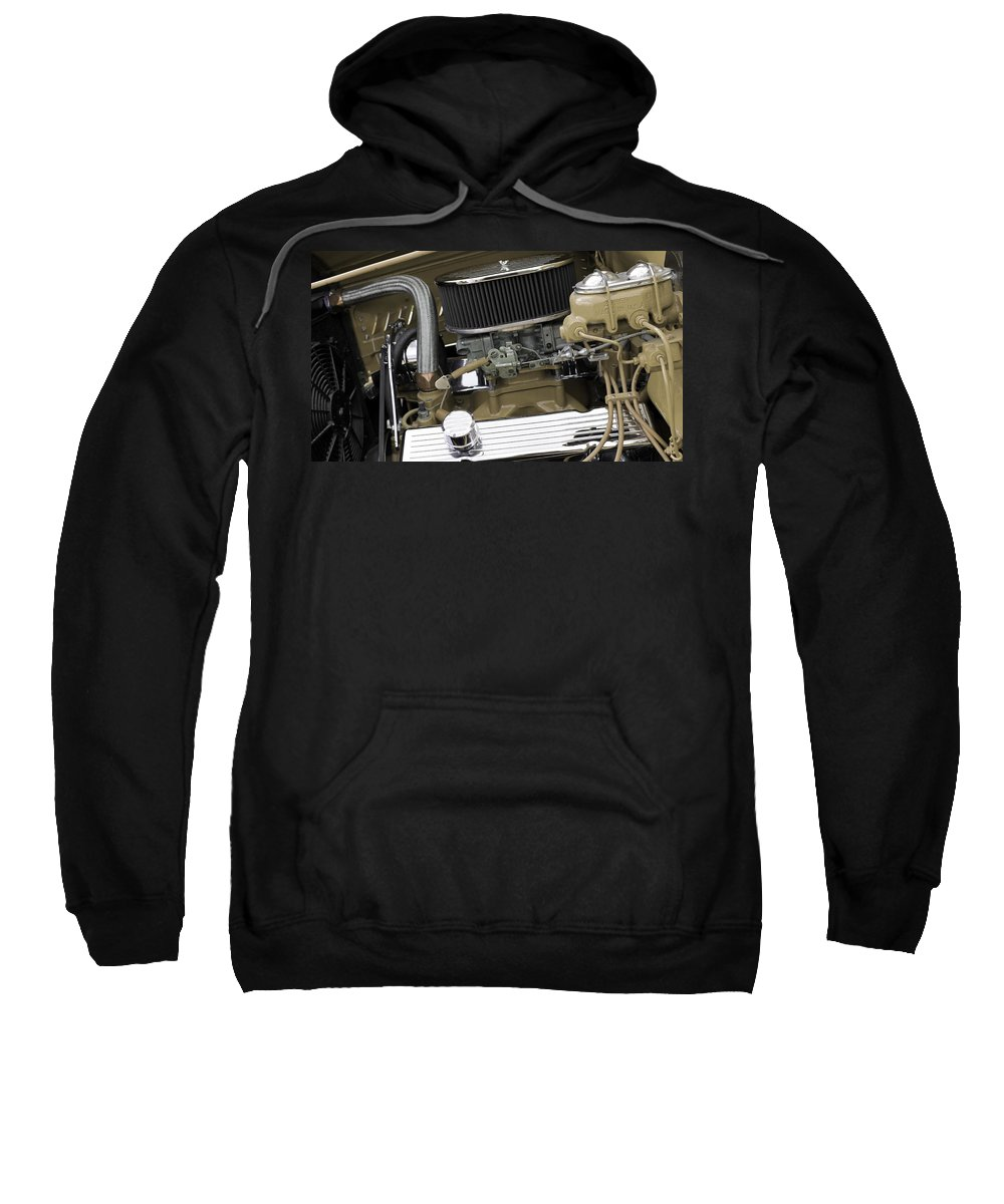 Car Sweatshirt featuring the photograph Engine523 by Carolyn Stagger Cokley