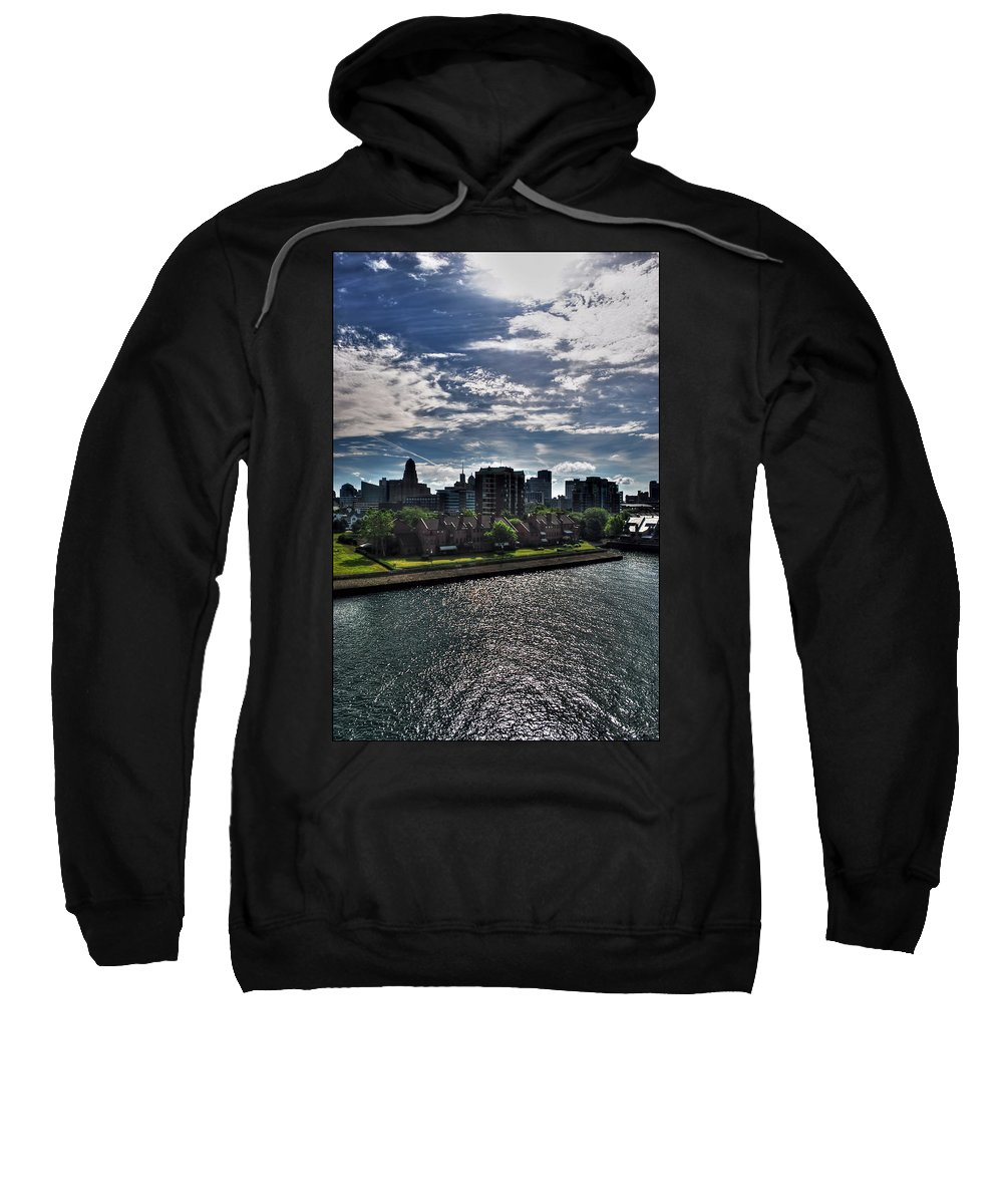 Sweatshirt featuring the photograph Erie Basin Marina Summer Series 0003 by Michael Frank Jr