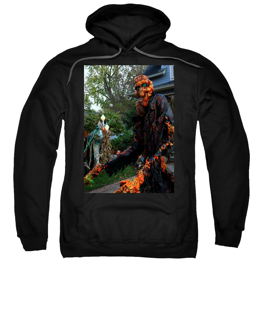 Usa Sweatshirt featuring the photograph Escape From The Pumpkin Patch by LeeAnn McLaneGoetz McLaneGoetzStudioLLCcom