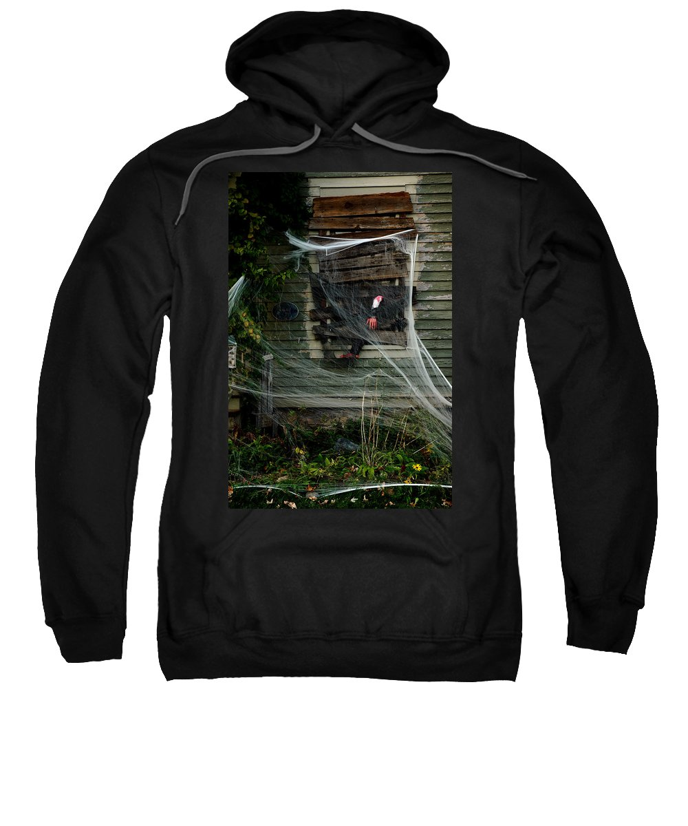 Usa Sweatshirt featuring the photograph Escaping The Web by LeeAnn McLaneGoetz McLaneGoetzStudioLLCcom