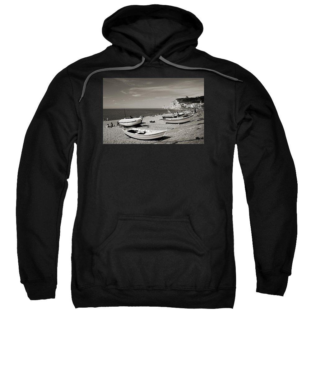 �tretat Sweatshirt featuring the photograph Etretat Beach by RicardMN Photography
