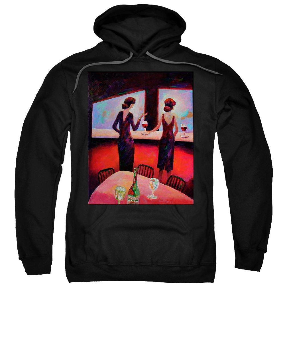 Evening Elegance Sweatshirt featuring the painting Evening Elegance by Naomi Gerrard