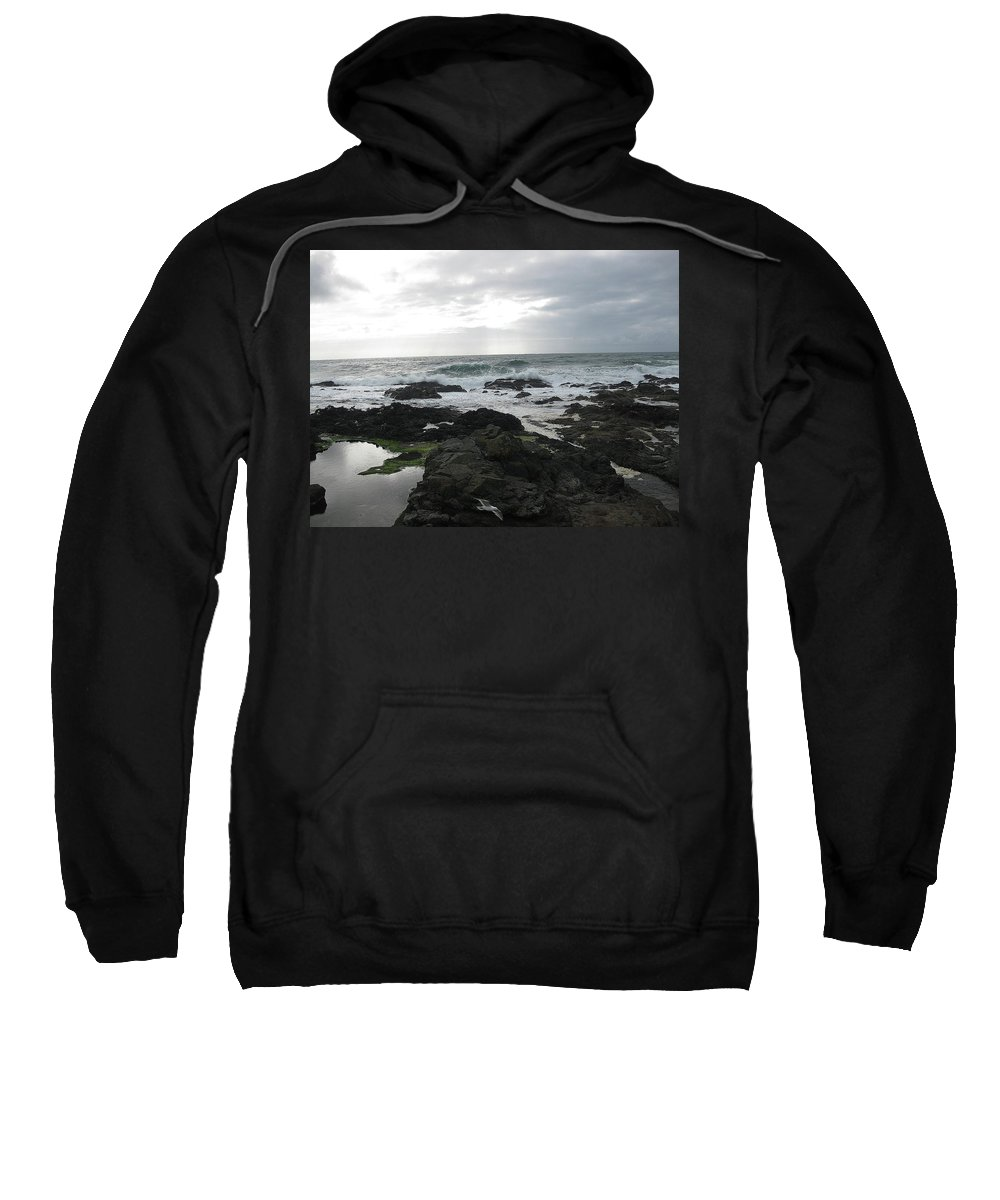 Evening Sweatshirt featuring the photograph Evening Oceanview by Linda Hutchins