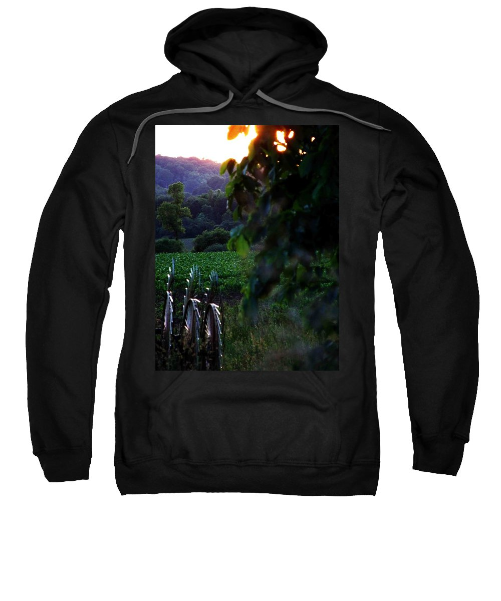 Farm Sweatshirt featuring the photograph Fading Day by Dennis Comins
