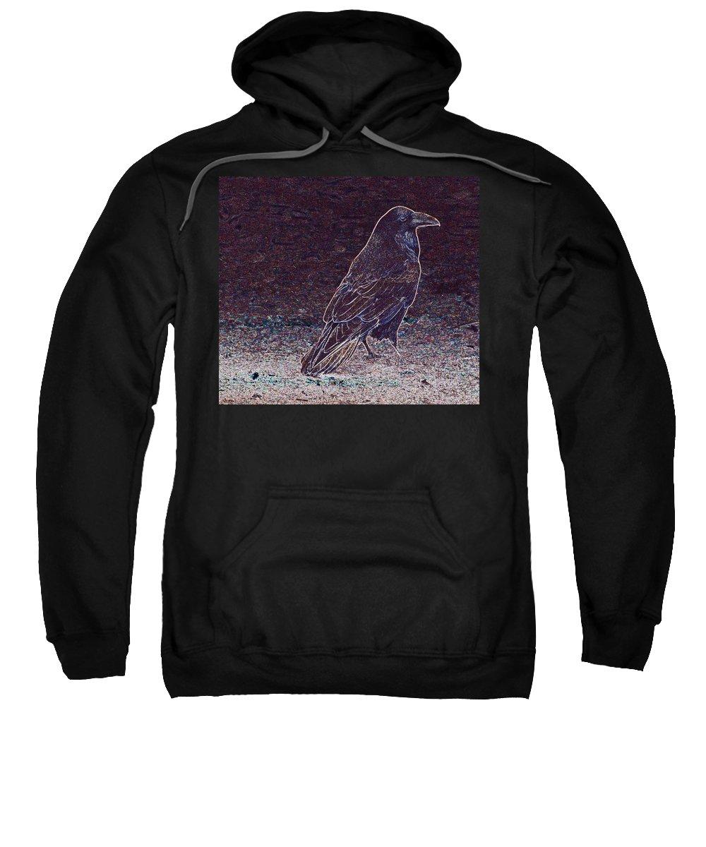 Raven Sweatshirt featuring the photograph Faithful Raven by Eric Tressler