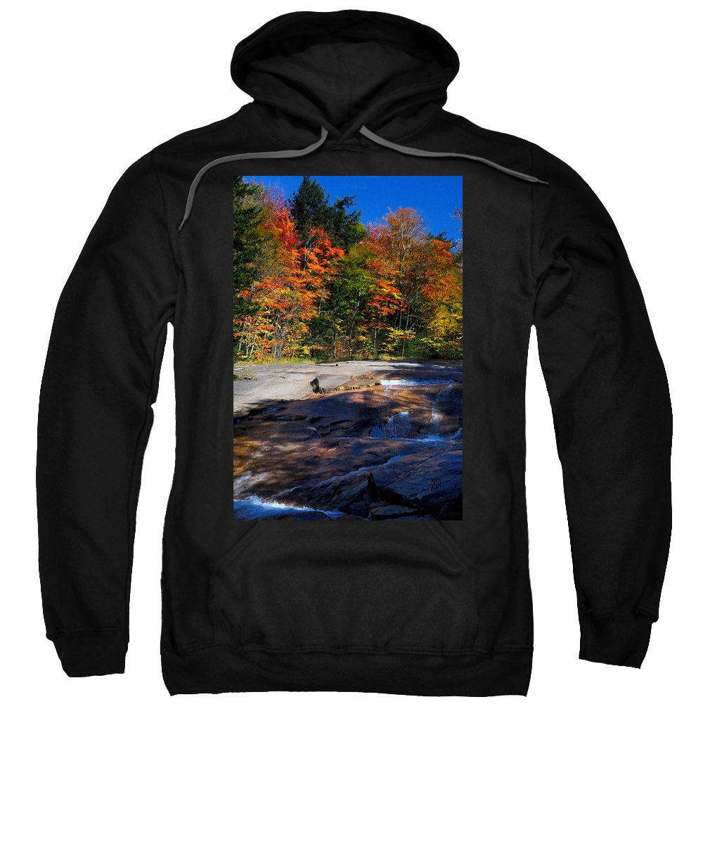 Sweatshirt featuring the photograph Fall Falls by Mark Valentine